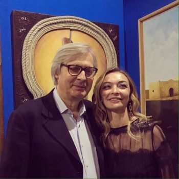 Rosanna Cerutti con Vittorio Sgarbi